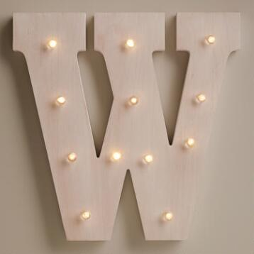 White W LED Battery Operated Marquee Light