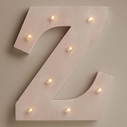White Z LED Battery Operated Marquee Light