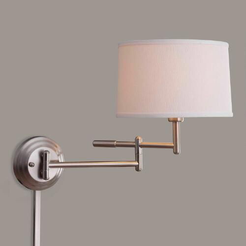 Brushed Steel Dickson Swing Arm Wall Sconce
