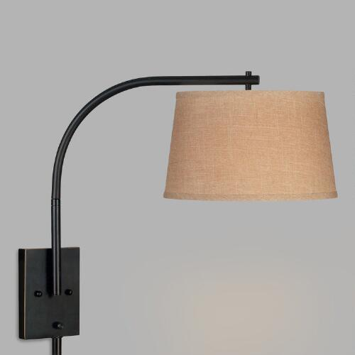 Bronze Sweep Swing Arm Wall Sconce