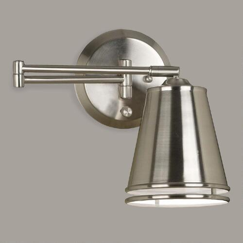 Brushed Steel Dale Swing Arm Wall Sconce
