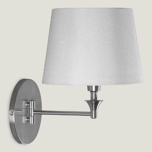 Brushed Steel Lewiston Swing Arm Wall Sconce