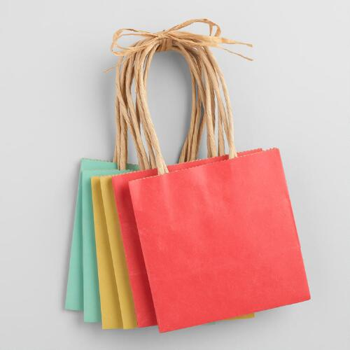 Mini Kraft Gift Bags Set of 6