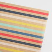 Striped Kraft Wrapping Paper Roll