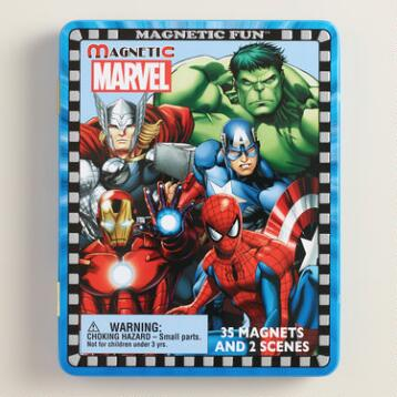 Magnetic Marvel Heroes Travel Tin