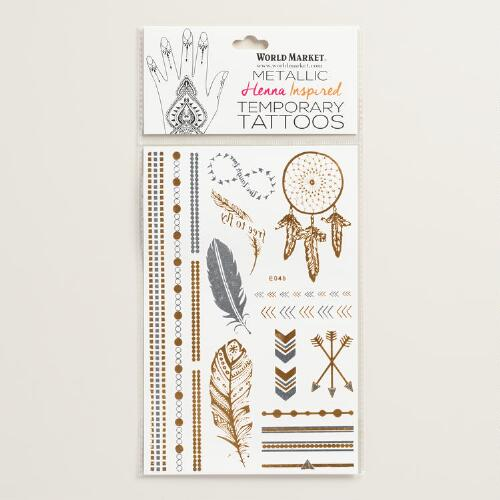 Feather and Dream Catcher Temporary Tattoos
