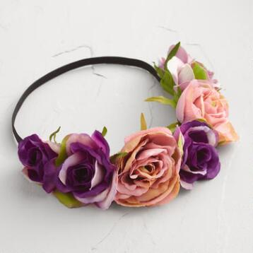 Purple Flower Crown Headband