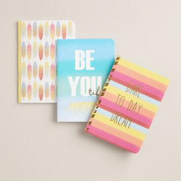 Gold Foil Ombre Paper Journals Set of 3