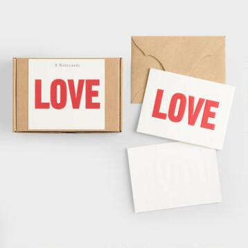 Love Coaster Cards Set of 8