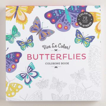 Vive Le Color! Butterflies Adult Coloring Book