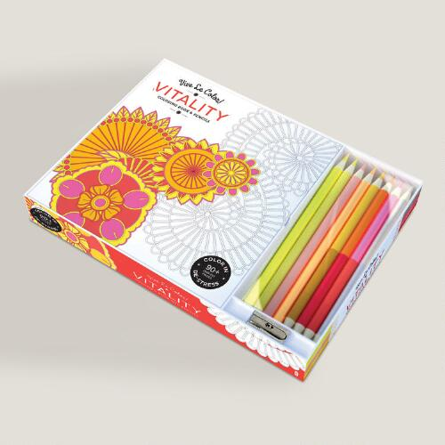 Vive Le Color! Vitality Adult Coloring Book
