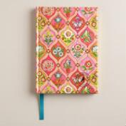 Pink Paisley Fabric Journal