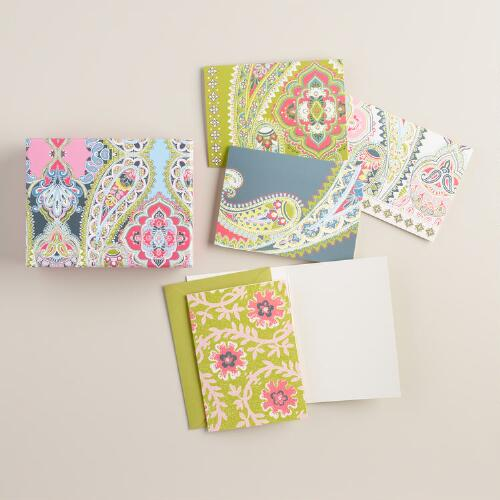 Paisley Boxed Notecards 12 Count