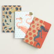 Sea Creatures Kraft Journals Set of 3