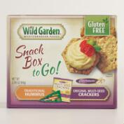 Wild Garden Multi Seed Crackers and Hummus Snack Pack