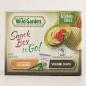 Wild Garden Veggie Chips and Hummus Snack Pack