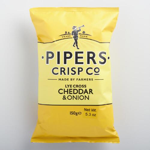 Pipers Cheddar and Onion Crisps