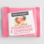 World Market® Strawberry Champagne Dark Chocolate Bar