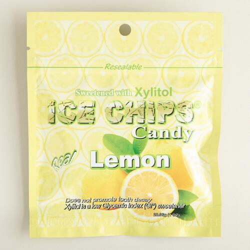 Ice Chips Lemon Candy Pouch