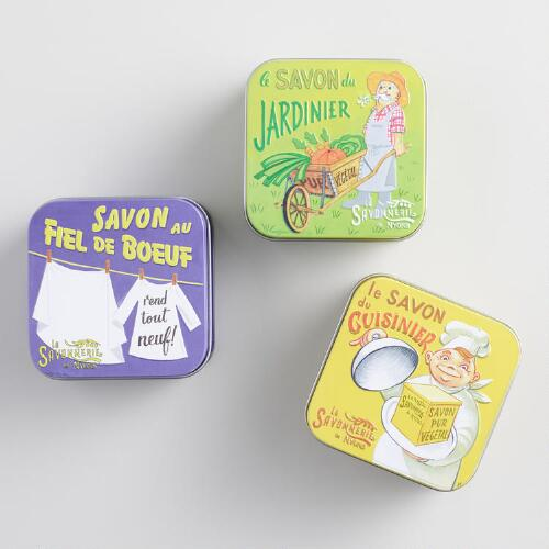 La Savonnerie Vintage Style French Soap Tins Set of 3