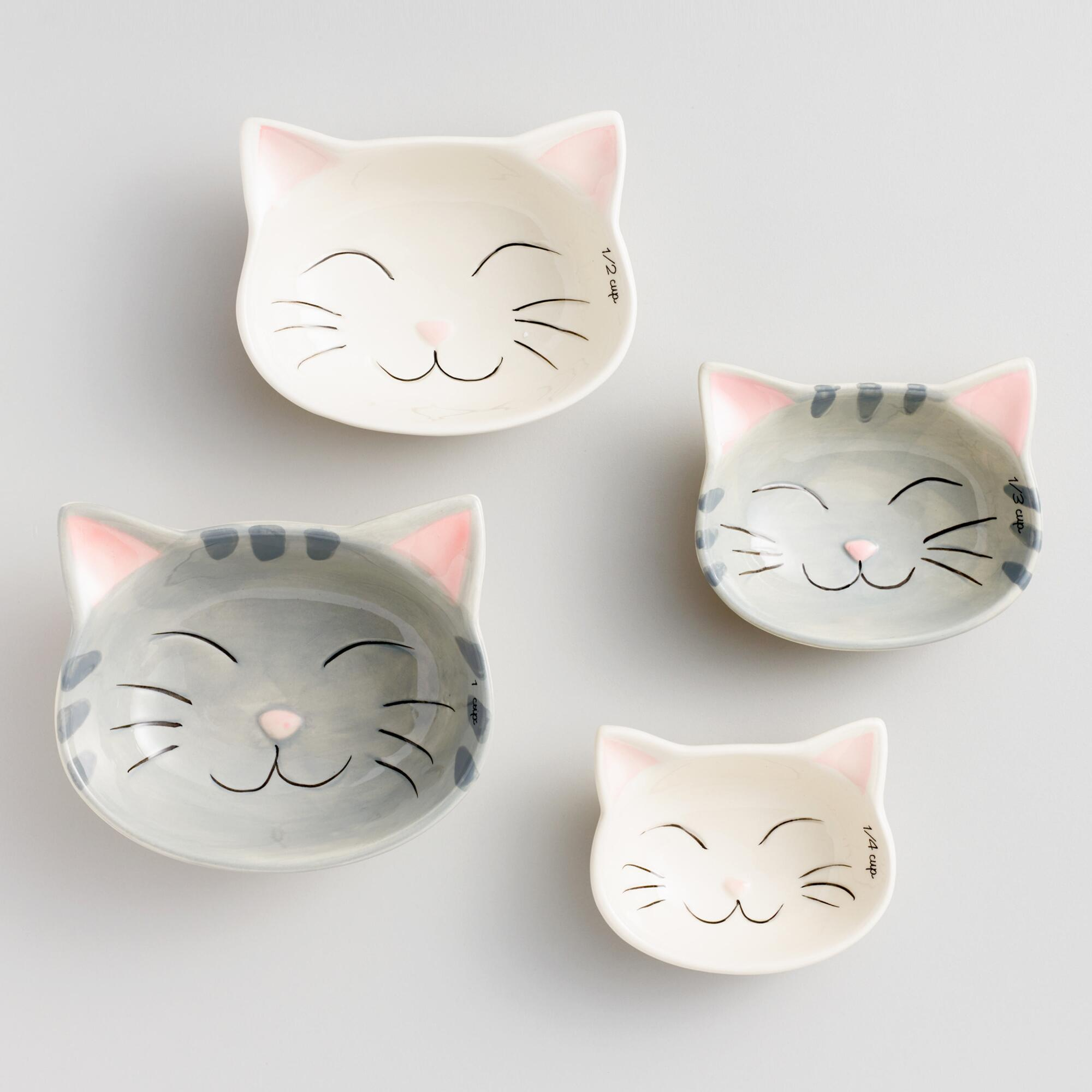 Cat Ceramic Measuring Cups World Market