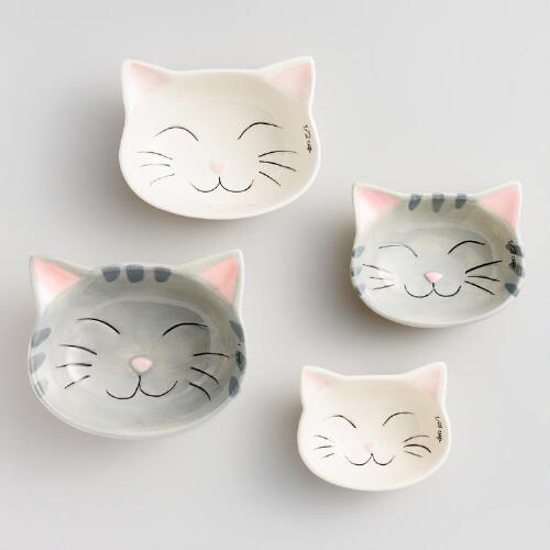 Cat Ceramic Measuring Cups