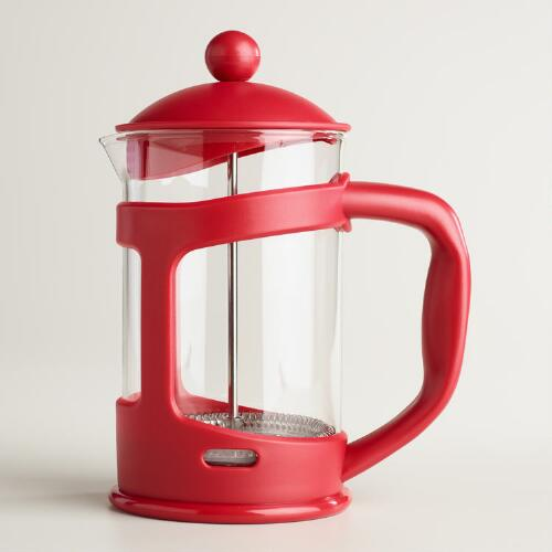 Red 3 Cup French Press