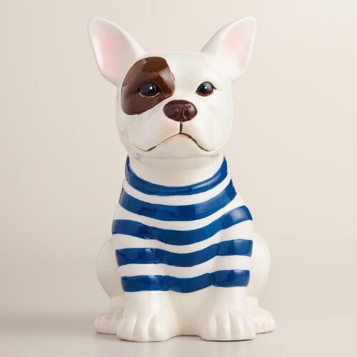 French Bulldog Ceramic Utensil Holder