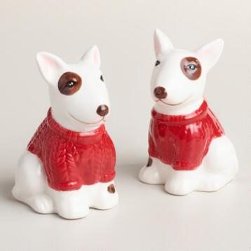 Bull Terrier Salt and Pepper Shaker Set
