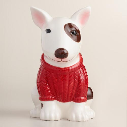 Bull Terrier Ceramic Utensil Holder