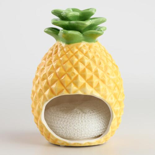 Pineapple Ceramic Sponge Holder