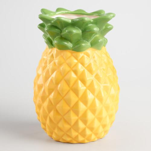 Pineapple Ceramic Utensil Holder