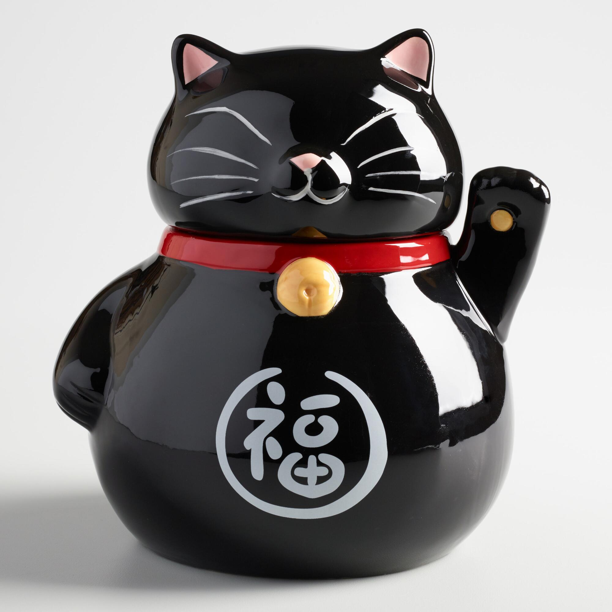 Black And White Cat Cookie Jar