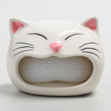 Cat Ceramic Sponge Holder