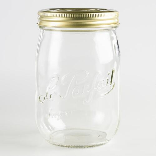 Le Parfait 1 Liter Glass Canning Jars Set of 6