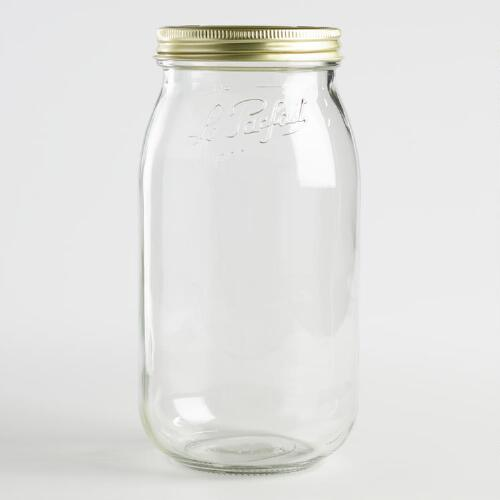 Le Parfait 2 Liter Glass Canning Jars Set of 4
