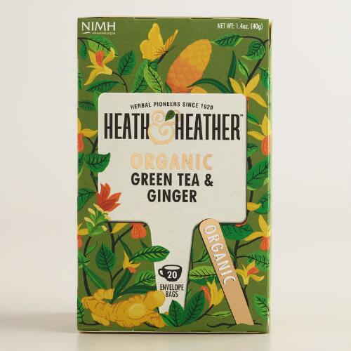 Heath and Heather Ginger Green Tea Set of 6