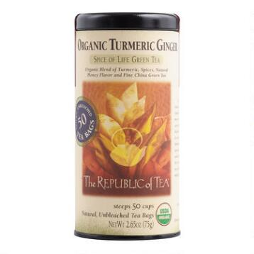 The Republic of Tea Organic Turmeric Ginger Green Tea