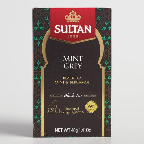 Sultan Mint Earl Grey Tea Bags 20 Count
