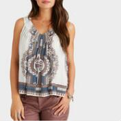 Blue Medallion Faraa Tank Top