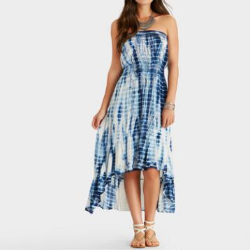 White and Blue Tie Dye Lalita Dress