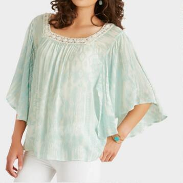 Mint Crochet Gaia Butterfly Top