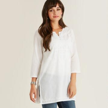 White Cate Tunic