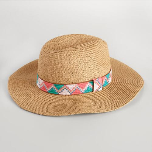 Light Brown Fedora with Jacquard Band