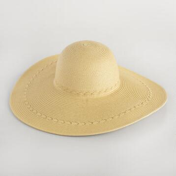 Beige Sun Hat with Braided Band