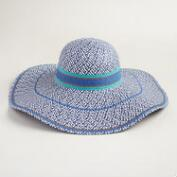 Blue Chevron Sun Hat