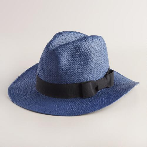 Blue Fedora with Black Band