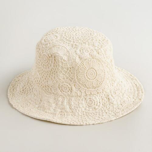Ivory Crochet Bucket Hat