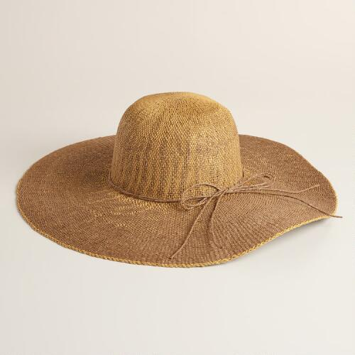 Brown and Tan Ombre  Sun Hat