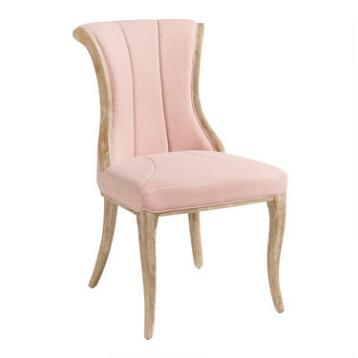 Blush Channel Back Dining Chairs Set of 2